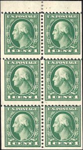 498e Mint,OG,H... Booklet pane... SCV $2.50