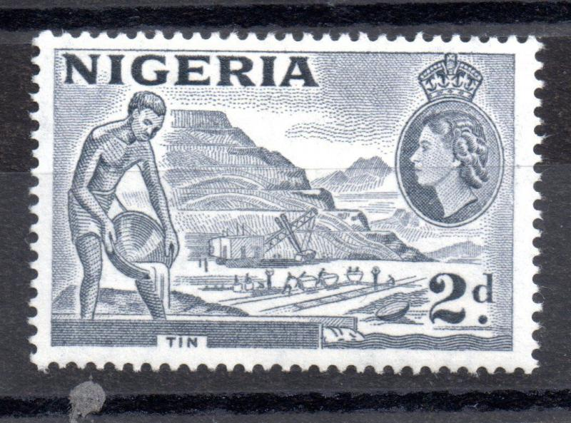 Nigeria 1953 2d slate violet 'Re-entry' SG72CA MH WS3553