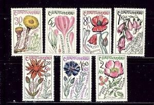 Czechoslovakia 1354-60 MNH 1965 Medicinal Plants