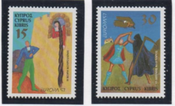 Cyprus Sc 903-4 1997 Europa Legends stamp set mint NH