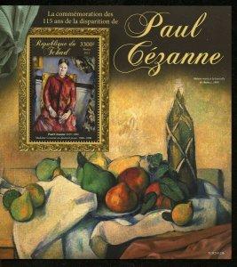 CHAD  2021 115th MEMORIAL OF PAUL CEZANNE SOUVENIR SHEET MINT NEVER HINGED