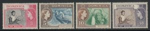 Dominica, Sc 157-160, MNH