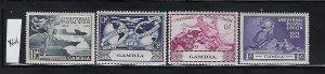 GAMBIA SCOTT #148-151  1949 UPU ISSUE- MINT XLIGHT HINGED