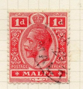 Malta 1921-22 Early Issue Fine Used 1d. 321545