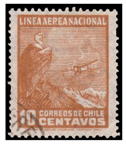 CHILE STAMP YEAR 1931. SCOTT # C23. AIRMAIL. USED