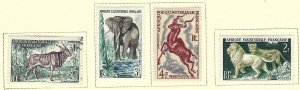 French Equatorial Africa 195-98 used + MLH cv $2.90 BIN $1.50
