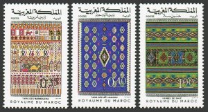 Morocco 398-400,MNH.Michel 867-869. Rugs 1977.Camel.