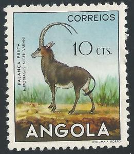 Angola #363 10c Animals - Sable Antelope