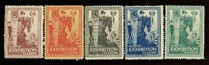 1911 SCOTTISH EXHIBITION GLASGOW ( SET OF 5 ) Poster Stamp