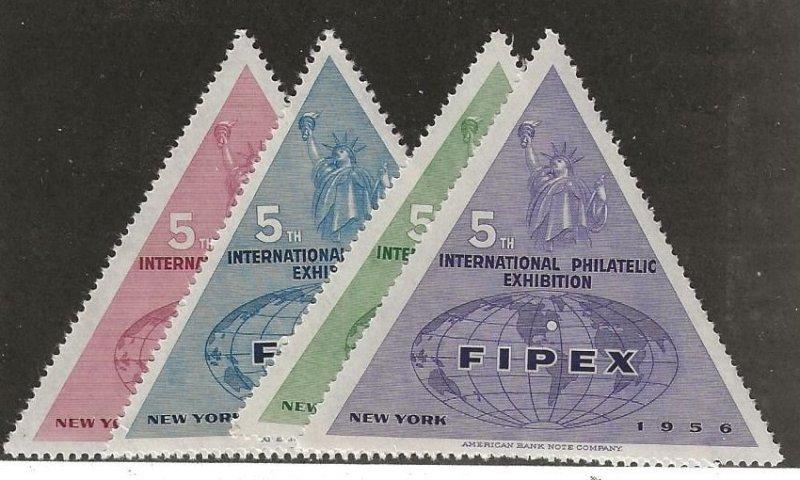 1956 International Philatelic Exhibition New York MNH Set/4