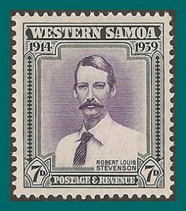 Samoa 1939 NZ Control, Robert Louis Stevenson, MLH #184,SG198