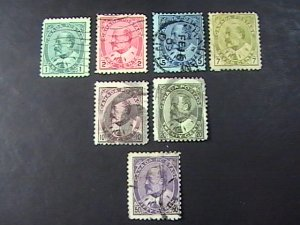 CANADA # 89-95--USED-------COMPLETE SET---KEVII---1898