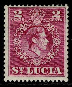 ST. LUCIA GVI SG147a, 2c magenta, M MINT.
