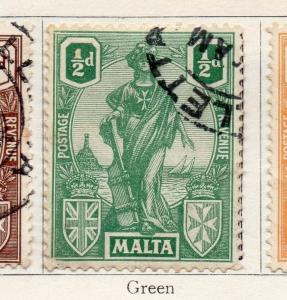 Malta 1922-23 Early Issue Fine Used 1/2d. 159298