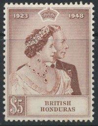 British Honduras SG 165 SC# 130 MVLH Royal Silver Wedding 1948  please see scans