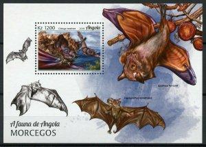 Angola Stamps 2018 MNH Bats Bat Flying Mammals Wild Animals Fauna 1v M/S