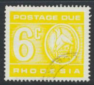 Rhodesia   SG D21 SC# J18  Used  / FU  Postage Due  see details