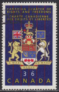 Canada 1133 USED 1987 Canadian Coat of Arms 36¢