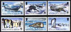 British Antarctic Territory 1992 WWF - Seals & Pengui...