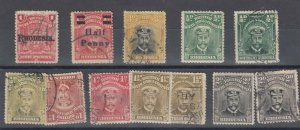 BSAC Rhodesia KGV Admiral Collection Of 12 Values FU/MH J7153