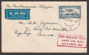 NEW ZEALAND 1937 First flight cover to Samoa...............................57669