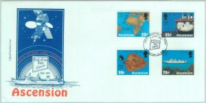84727 - ASCENSION - Postal History - FDC COVER 1993 Communications BOATS