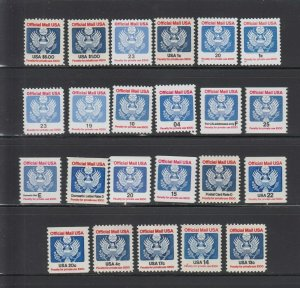 US,O132,0133,O127 // O156,OFFICIAL MAIL,MNH,VF, COLLECTION,MINT,NH