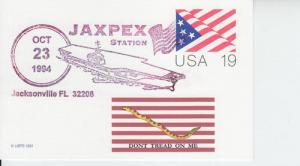 1994 10/23 JAXPEX - Jacksonville FL Flag PC Pictorial