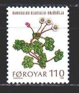 Faroe Islands. 1980. 49 of the series. Ranunculus glacial, flowers, flora, po...