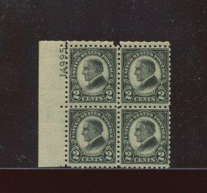 Scott 612 Harding Perf 10 Rotary Press Mint Plate Block of 4 Stamps (612-pb3)