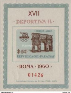 SW1272 - Paraguay -  Olympic Games - Rome 1960, Italy - Minisheet MNH