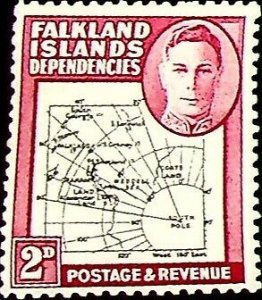 Falkland Islands, Dependencies 1946 2d SG G3 ** MNH KGVI (002821)