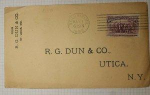 US Sc# 231 Used On Cover St Louis MO 1893 RG Dun & CO Utica NY Machine Cancel