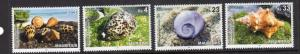 Sea Shells of Mauritrus  4 var..mnh