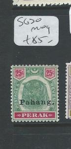 MALAYA PAHANG (P0910B) TIGER HEAD 25C SG 20  MOG