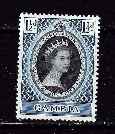 Gambia 152 Hinged 1952 QEII Coronation issue