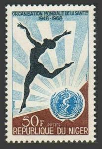Niger 206,MNH.Michel 185. WHO,20th Ann.1968.Woman dancing.