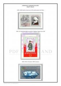 East Germany GDR DDR 1949-1990 PDF(DIGITAL) STAMP ALBUM PAGES