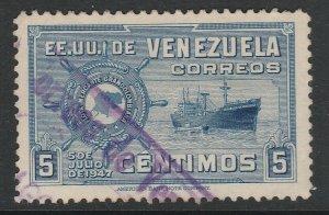Venezuela 1948-50 5c used South America A4P53F52