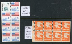 #1623a, 1736a MINT NH booklet panes  ⭐⭐⭐⭐⭐⭐