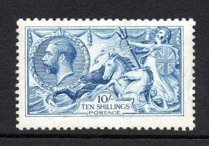 GB KGV SG412 10/- Blue De la Rue Seahorse Fine Unmounted Mint/MNH  Cat £4,000