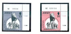 Jersey Sc 708-9 1995 Europa Liberation stamps mint NH