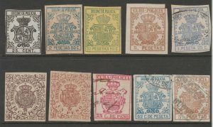 Spain Antilles Cinderella Revenue fiscal mix collection stamp ml31 as seen