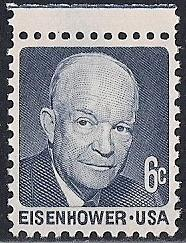 #1393V 6 cent Eisenhower Stamp mint OG NH EGRADED SUPERB 99 XXF