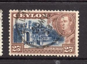 Ceylon 1938 Early Issue Fine Used 25c. 230527