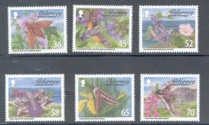 Alderney Sc 397-2 2011 Hawkmoths stamp set mint NH