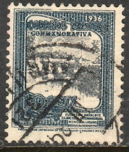 MEXICO 726, 10c HIGHWAY INAUGURATION, USED F-VF. (977)