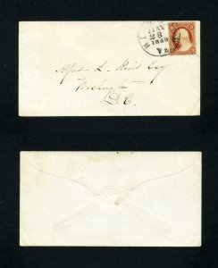 # 25 on cover Richmond, VA to Washington, D.C. dated 5-28-1859