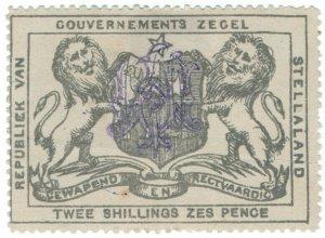 (I.B) Stellaland (Bechuanaland) Revenue : Duty Stamp 2/6d