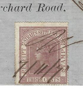 MALAYA STRAITS SETTLEMENTS (P1109B) QV 3C QV REVENUE ON 1871 FUND RECEIPT